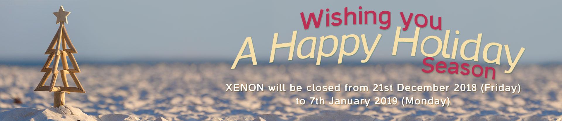 XENON XMAS Holiday Break Banner