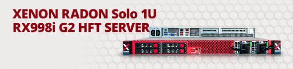 XENON RADON Solo 1U RX998i G2 HFT SERVER
